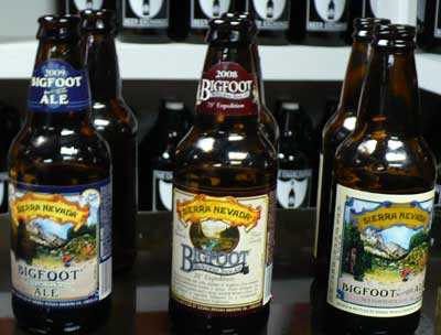 2009, 2008 and 2007 Sierra Nevada Bigfoot barleywines