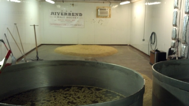 The Banana Room at Riverbend Malt House, where the process starts.