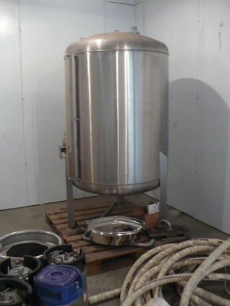 The 10-barrel fermenter, which will some day hold many delicious sour beers.