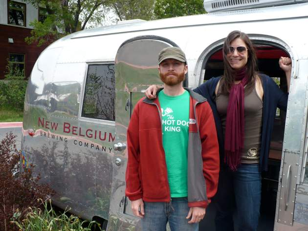 """Nicole and I at New Belgium in 2011. I swear I had fun. I was in an 1890s, """"I have a beard"""" photo phase."""