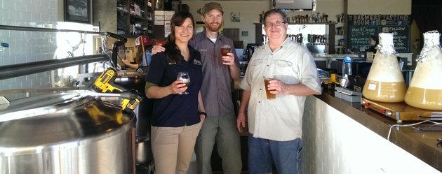 The Brew Crew: Nicole Cendrowski, Brian Cendrowski, Mike Thompson (our sherpa), Yeast