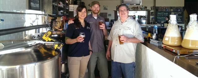 The Brew Crew: Nicole Cendrowski, Brian Cendrowski, Mike Thompson (our sherpa), Yeast