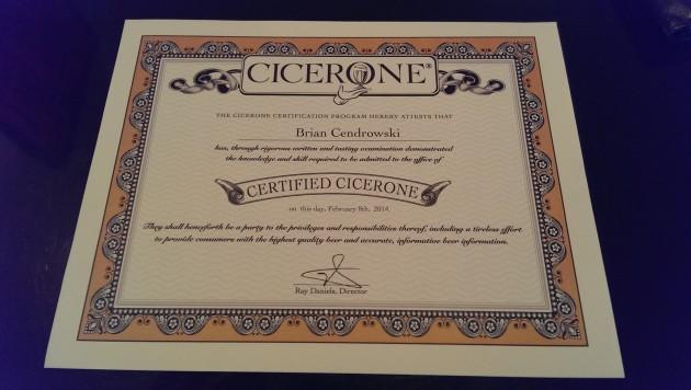 cicerone certificate